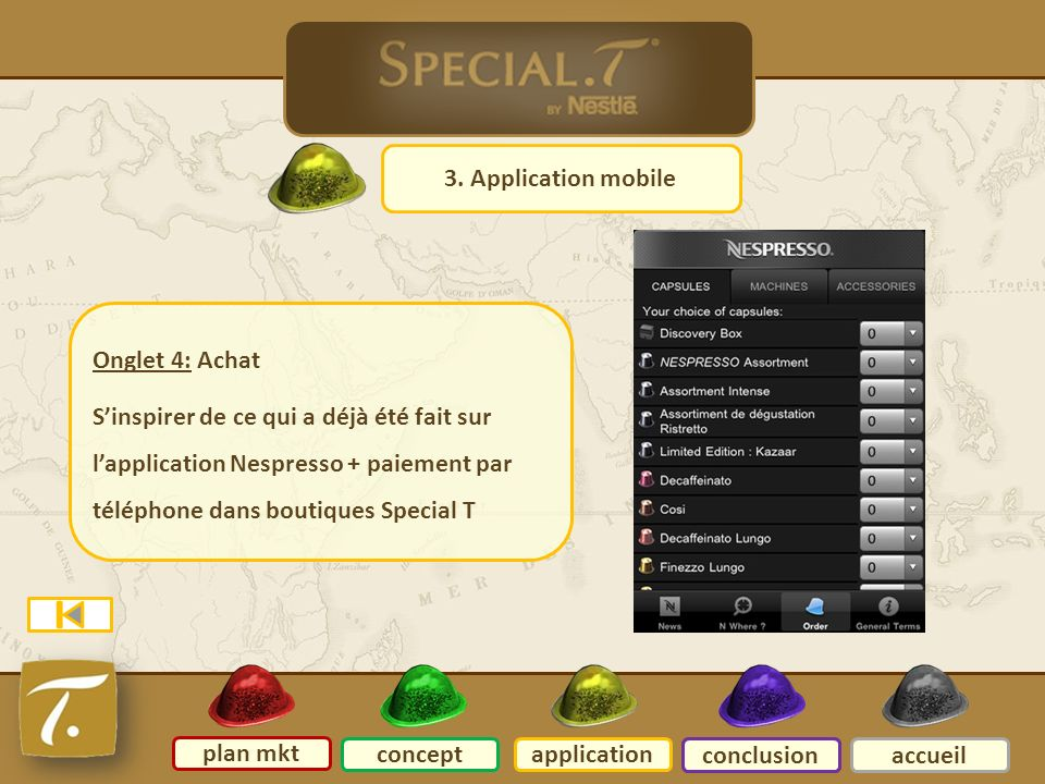 7 Application mobile 3. Application mobile Onglet 4: Achat