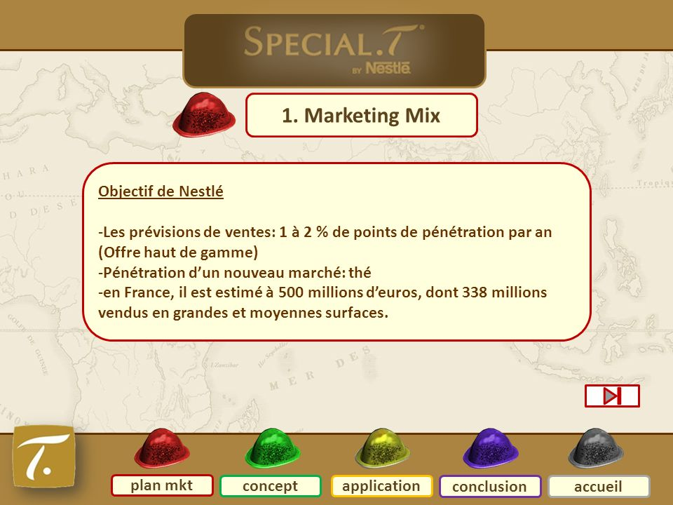 Plan mkt 1. Marketing Mix Objectif de Nestlé