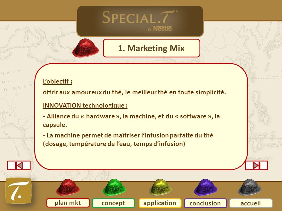 2 Plan mkt 1. Marketing Mix L'objectif :