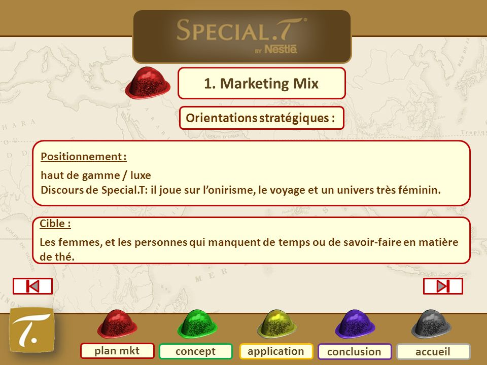 2 Plan mkt 1. Marketing Mix Orientations stratégiques :