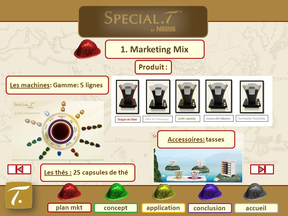 2 Plan mkt 1. Marketing Mix Produit : Les machines: Gamme: 5 lignes