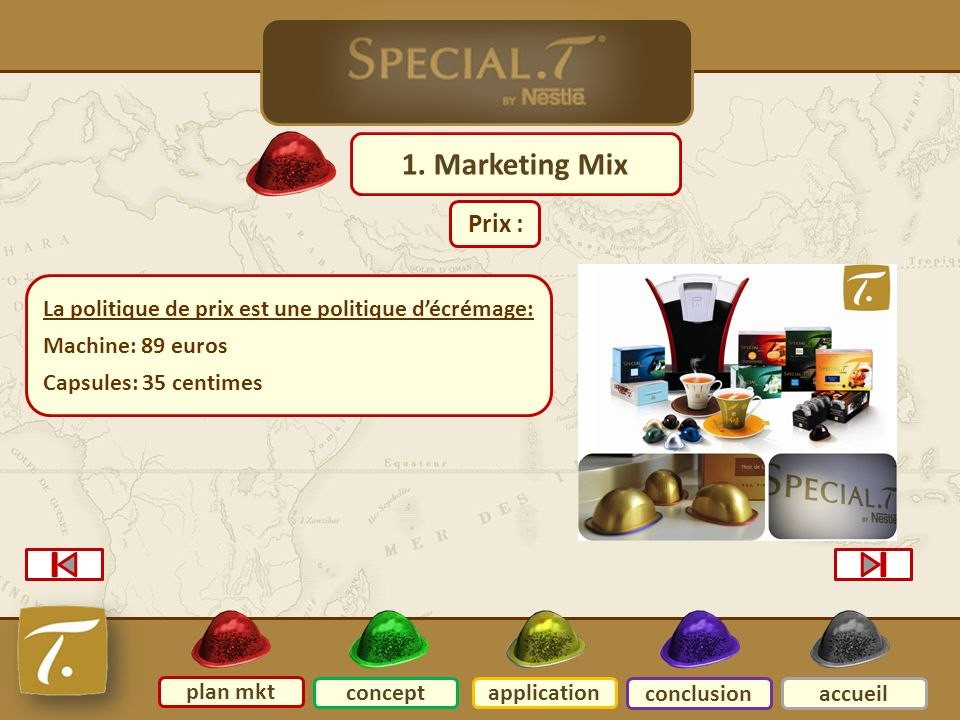 2 Plan mkt 1. Marketing Mix Prix :