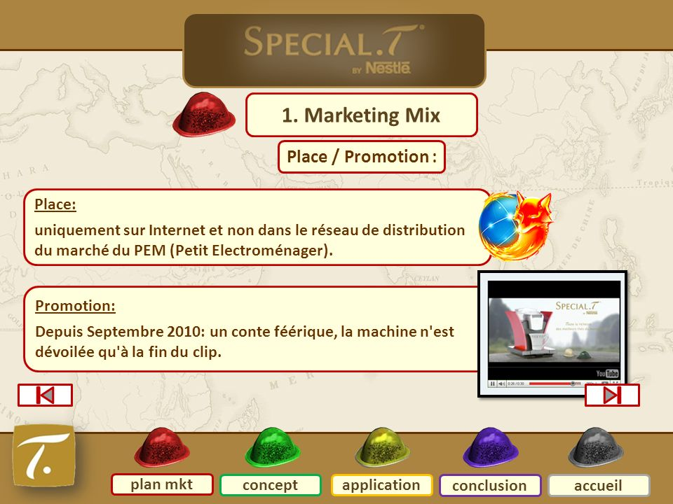 2 Plan mkt 1. Marketing Mix Place / Promotion : Place: