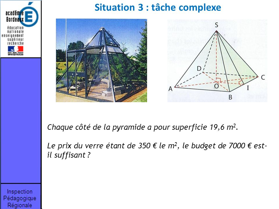 Situation 3 : tâche complexe