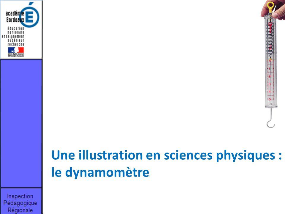 Une illustration en sciences physiques : le dynamomètre
