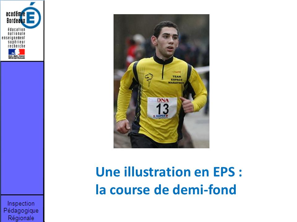 Une illustration en EPS : la course de demi-fond