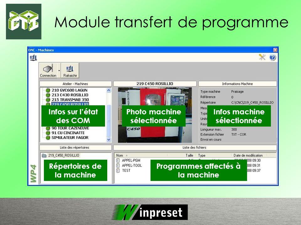 Module transfert de programme