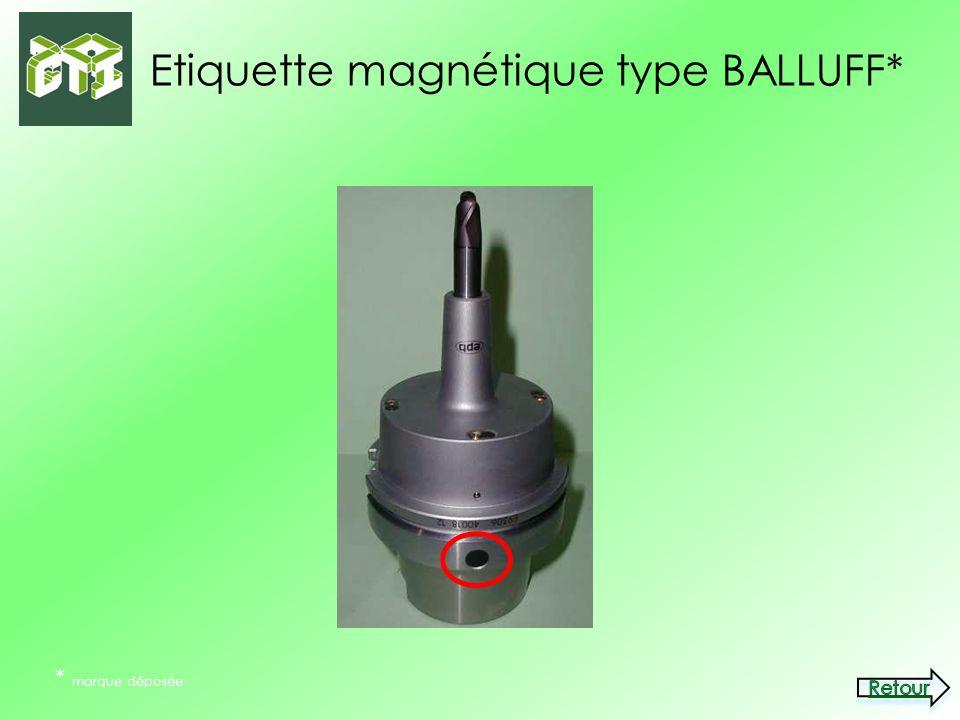 Etiquette magnétique type BALLUFF*