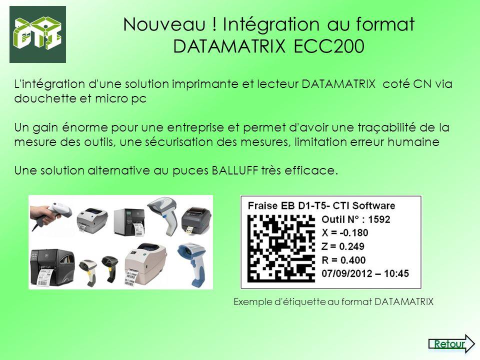 Nouveau ! Intégration au format DATAMATRIX ECC200