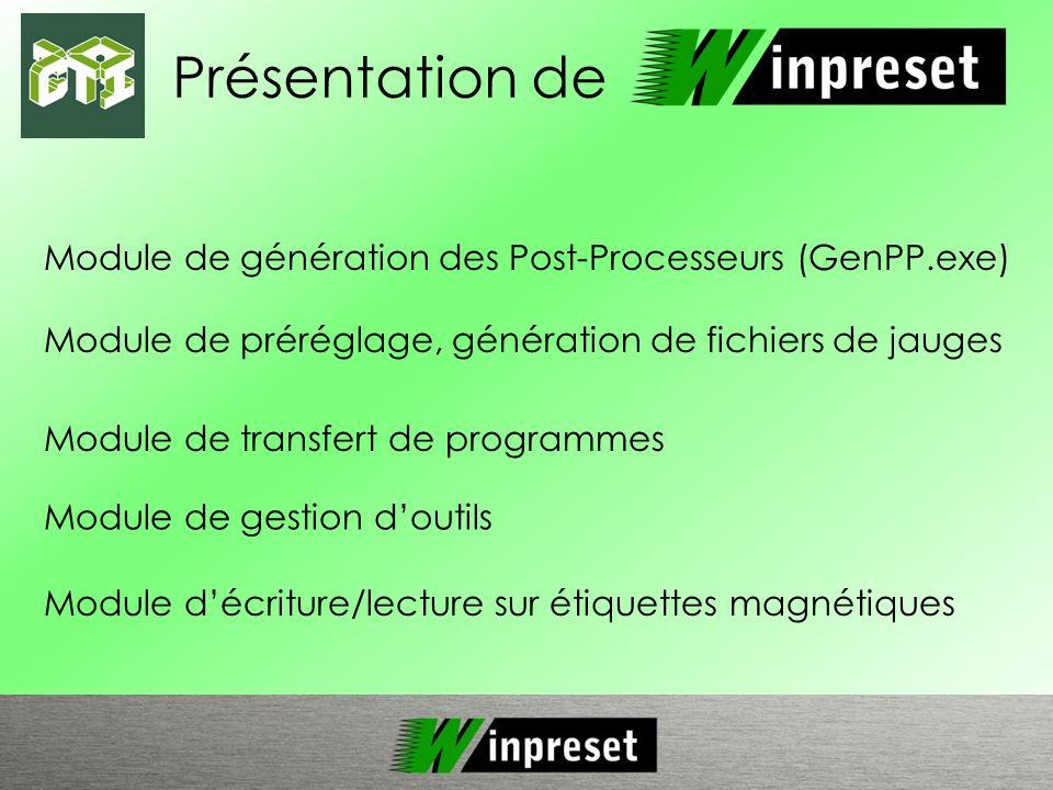 Présentation de Module de génération des Post-Processeurs (GenPP.exe)