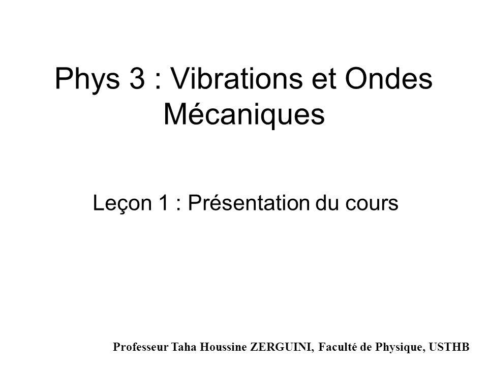 Phys 3 : Vibrations et Ondes Mécaniques