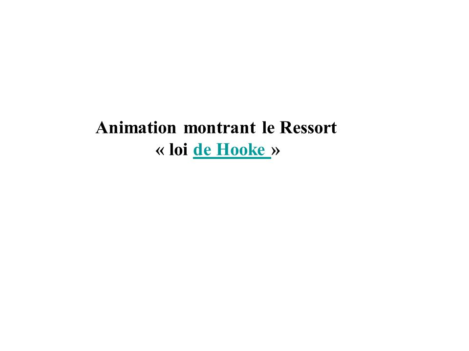 Animation montrant le Ressort