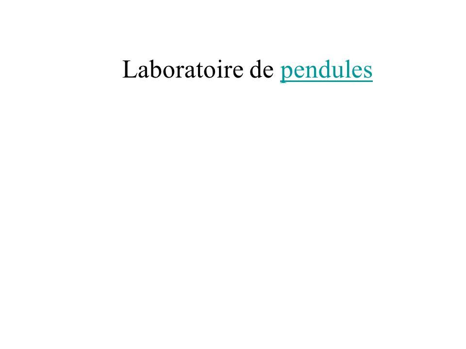 Laboratoire de pendules