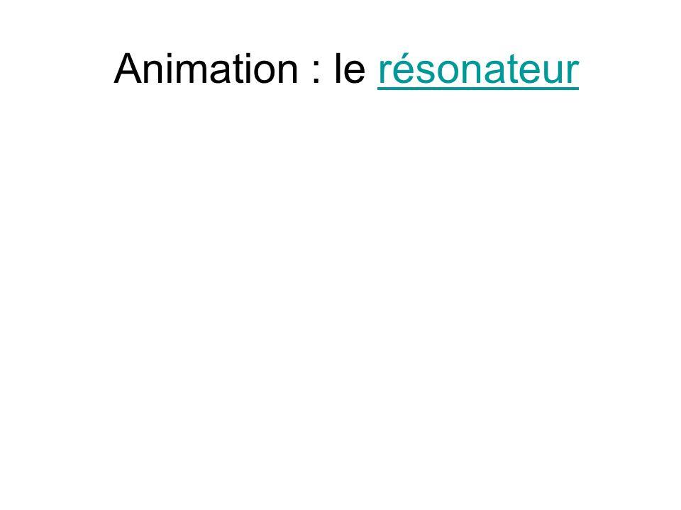 Animation : le résonateur