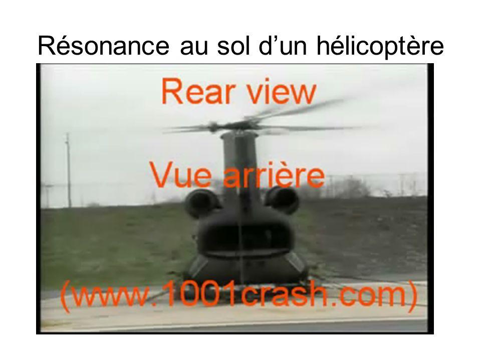 Résonance au sol d'un hélicoptère