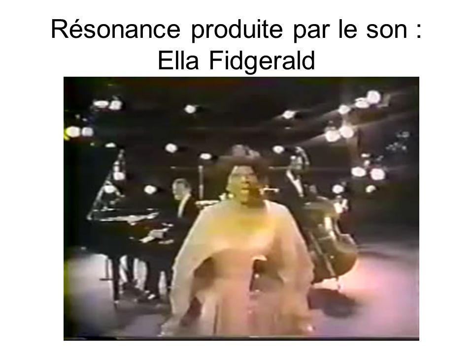 Résonance produite par le son : Ella Fidgerald