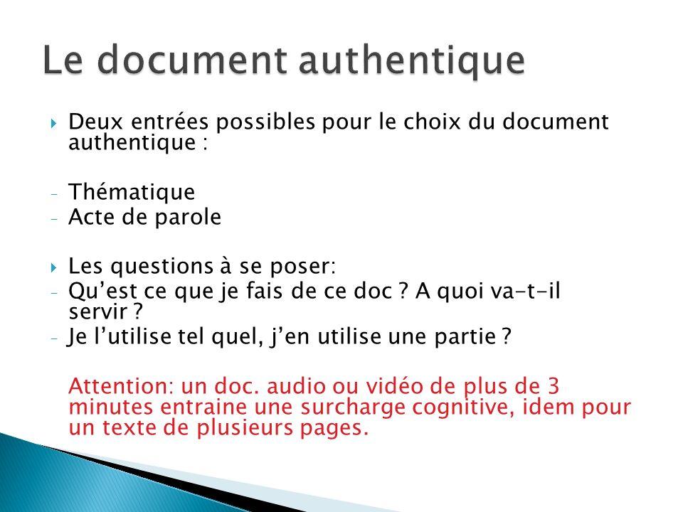 Le document authentique