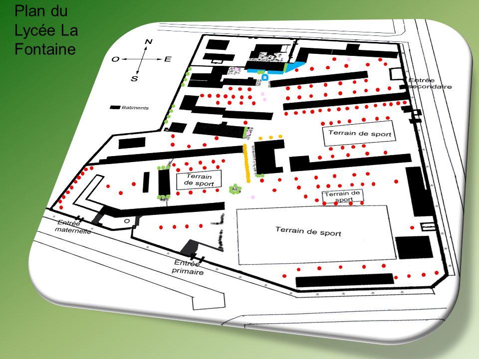 Plan du Lycée La Fontaine