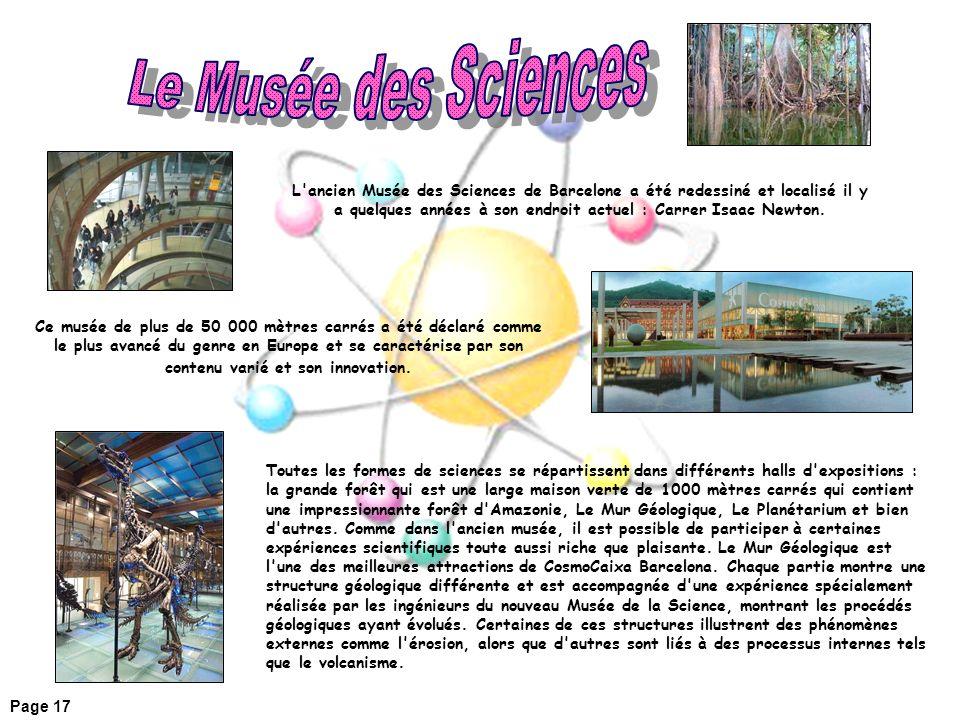 Le Musée des Sciences
