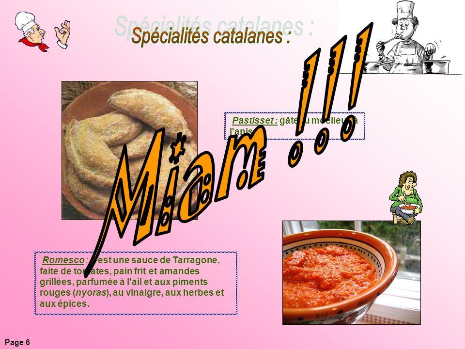 Spécialités catalanes :