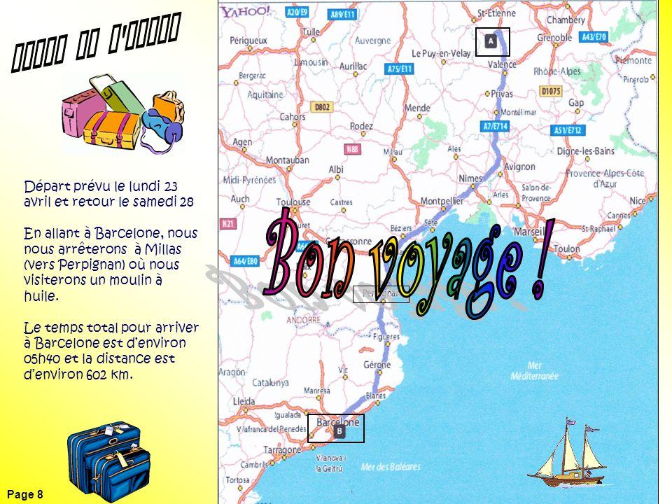 Carte de l aller Bon voyage !