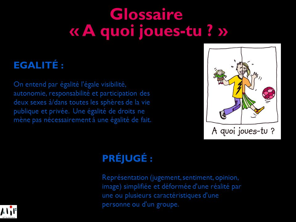 Glossaire « A quoi joues-tu »