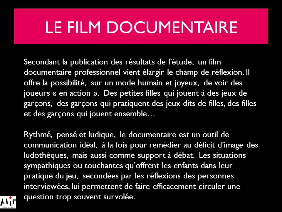 LE FILM DOCUMENTAIRE