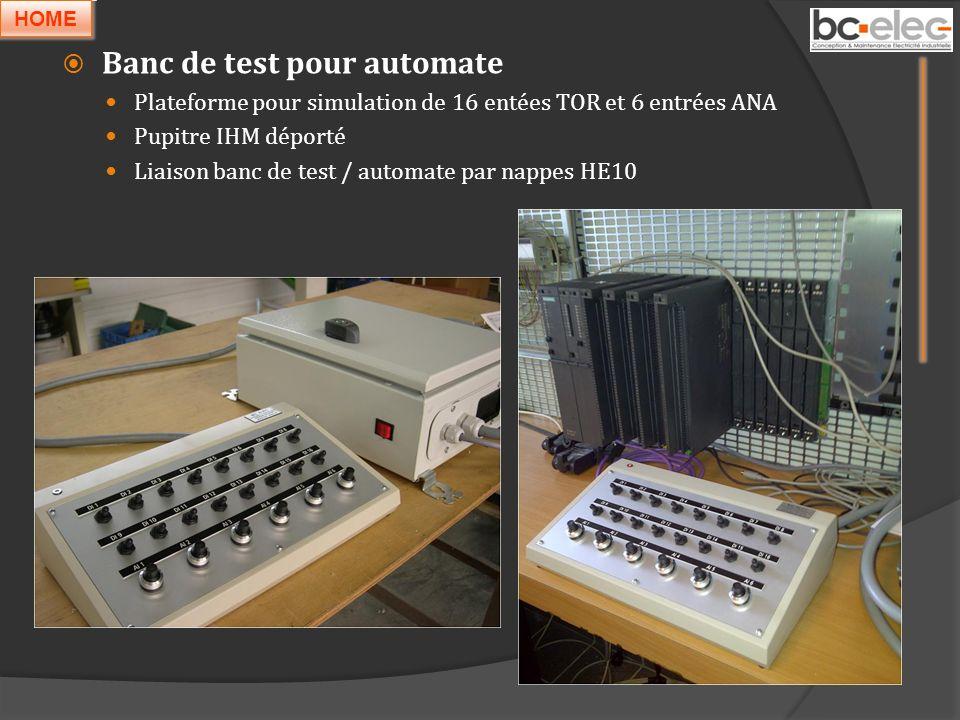 Banc de test pour automate