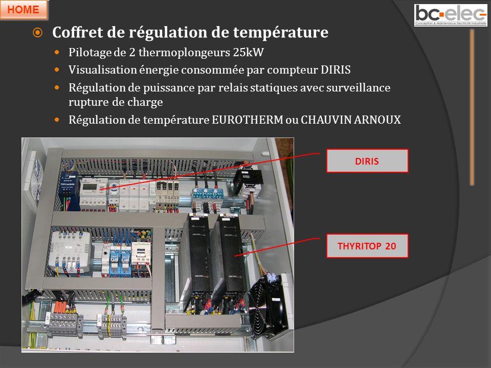 Coffret de régulation de température