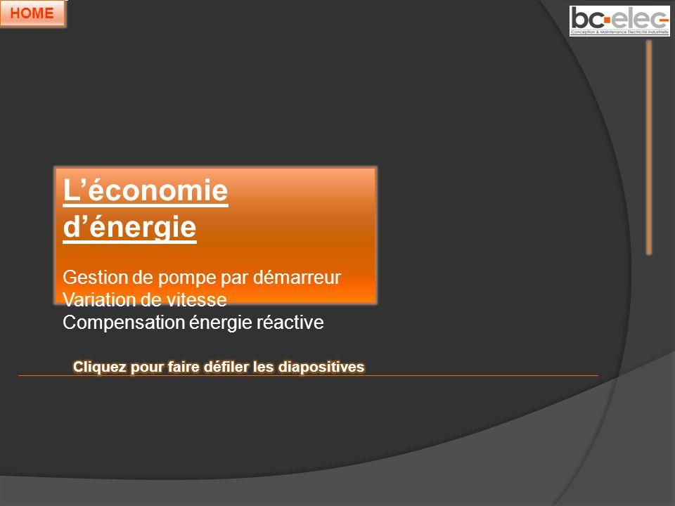 L'économie d'énergie Gestion de pompe par démarreur
