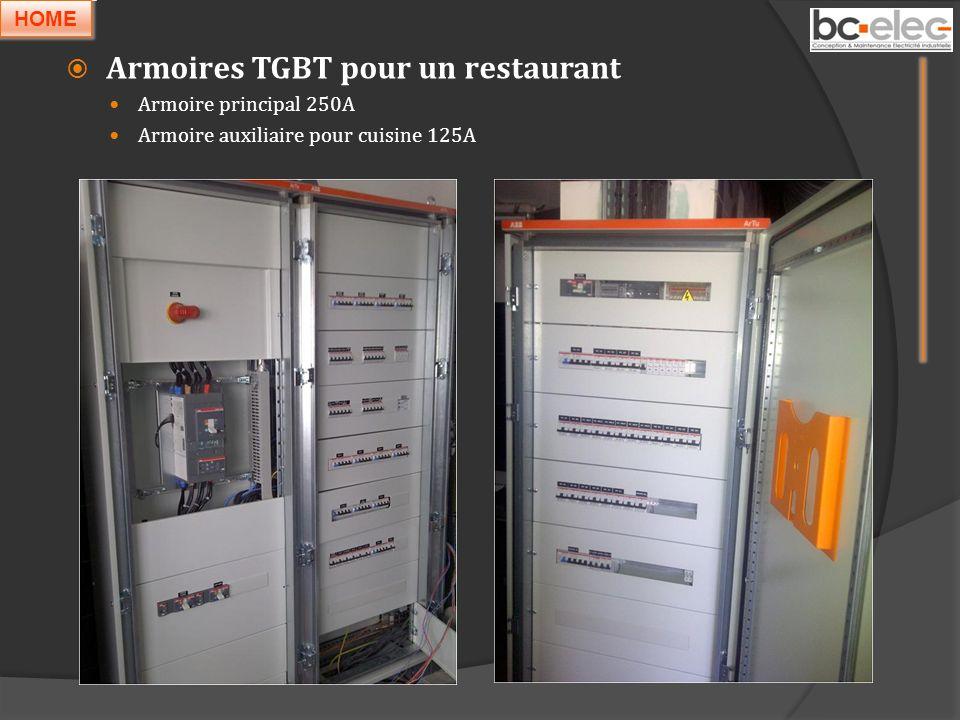 Armoires TGBT pour un restaurant