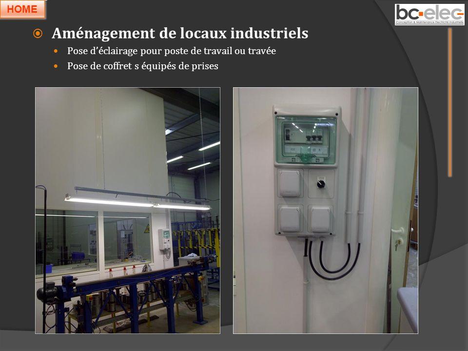 Aménagement de locaux industriels