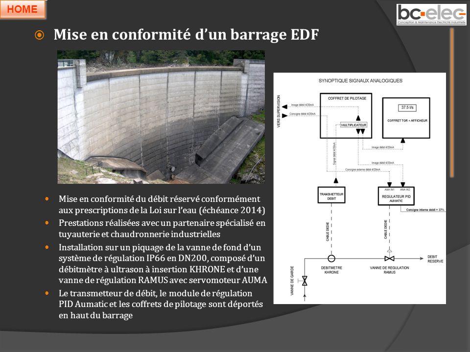 Mise en conformité d'un barrage EDF