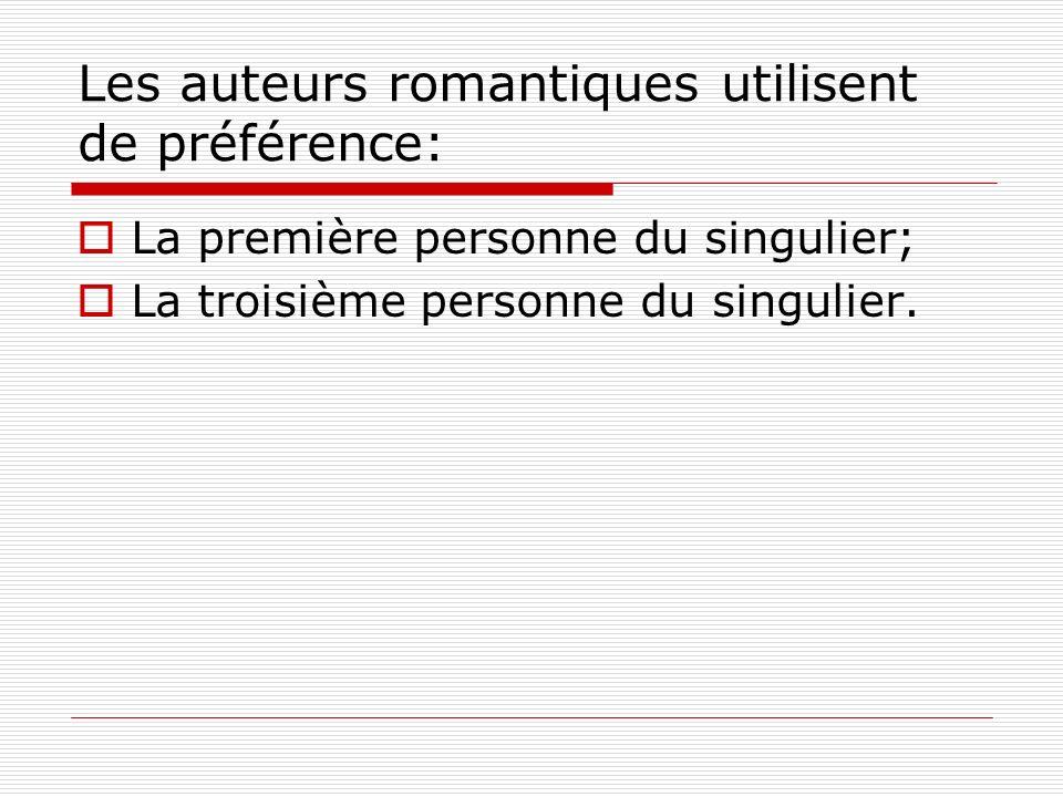 Les auteurs romantiques utilisent de préférence: