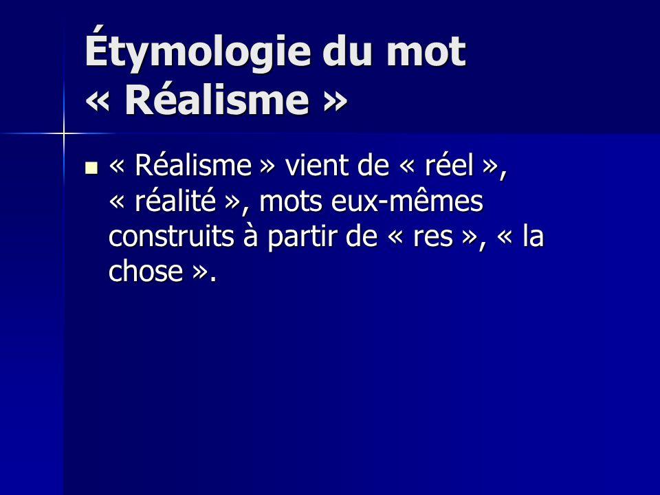 Étymologie du mot « Réalisme »