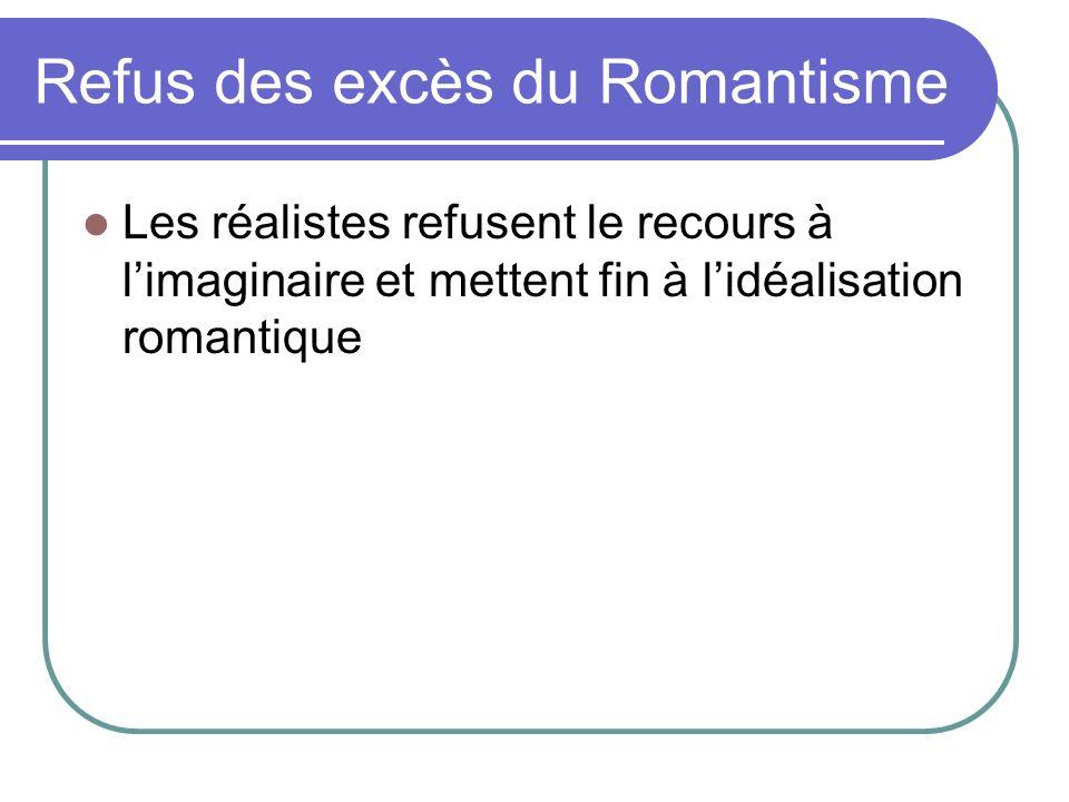 Refus des excès du Romantisme