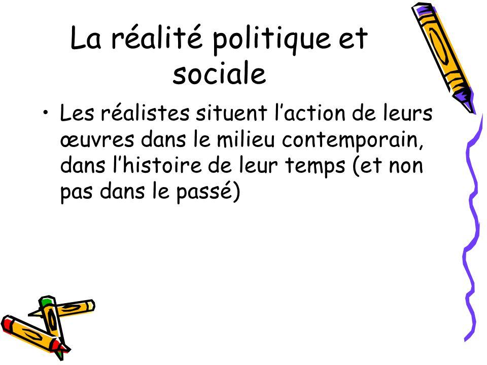 La réalité politique et sociale