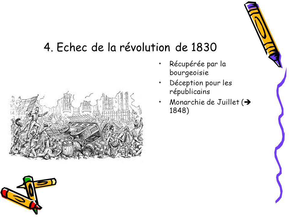 4. Echec de la révolution de 1830