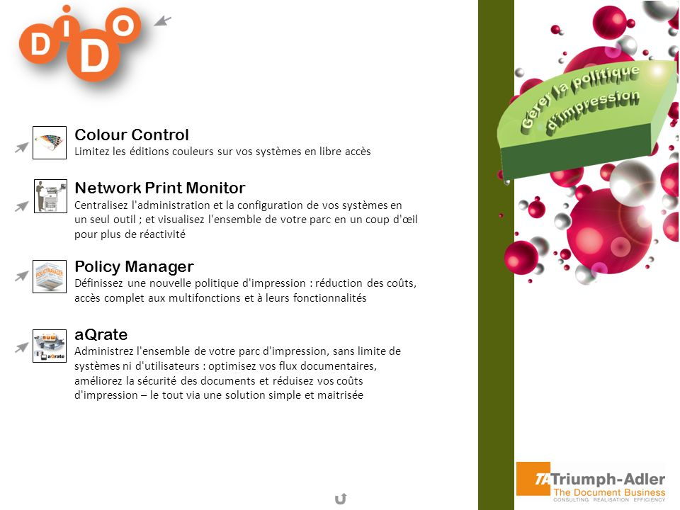 Colour Control Network Print Monitor Policy Manager aQrate