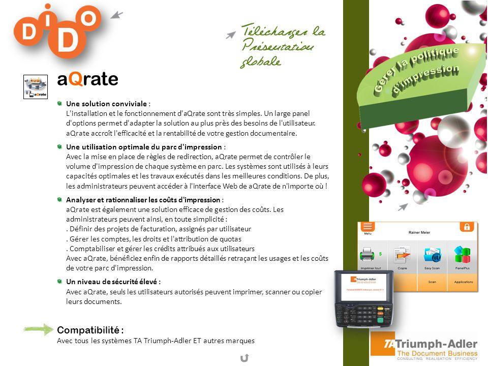aQrate Compatibilité :