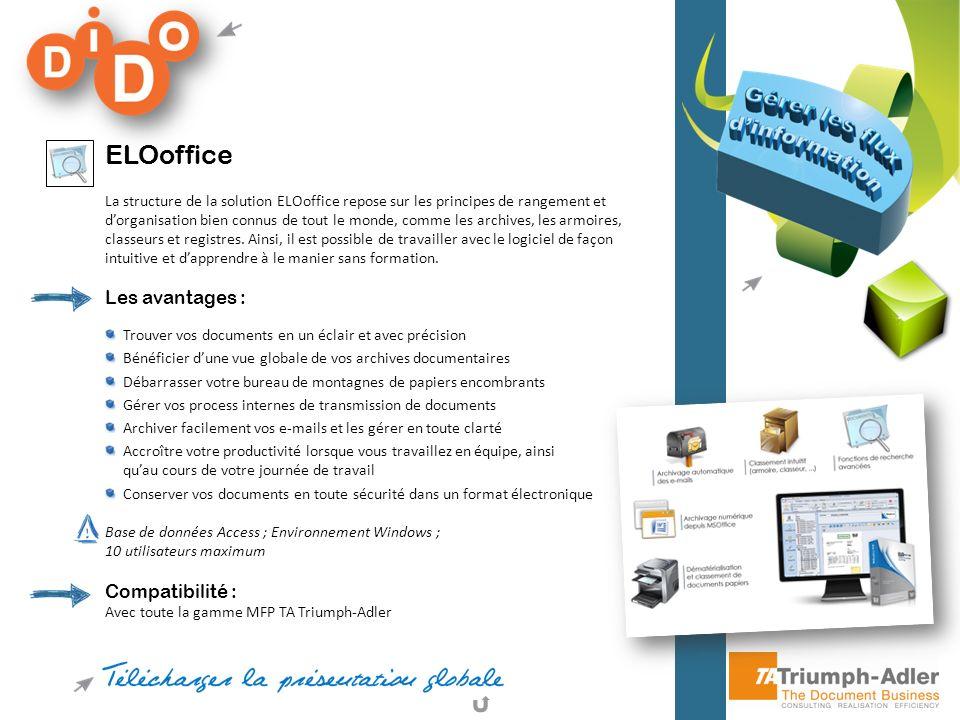 ELOoffice Les avantages : Compatibilité :