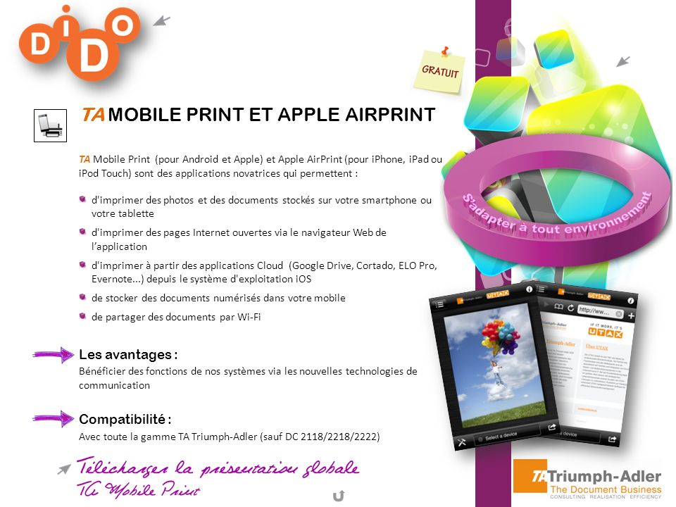 TA Mobile Print et Apple airprint