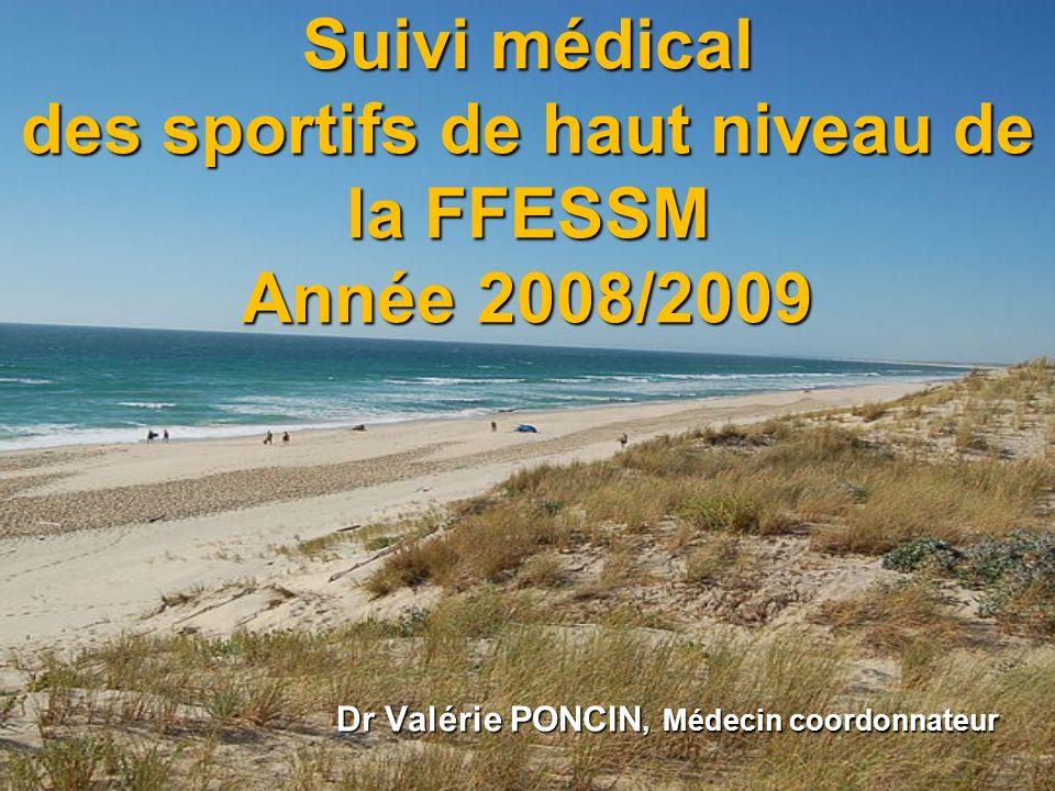 Suivi médical des sportifs de haut niveau de la FFESSM Année 2008/2009