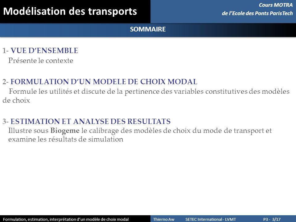 Modélisation des transports