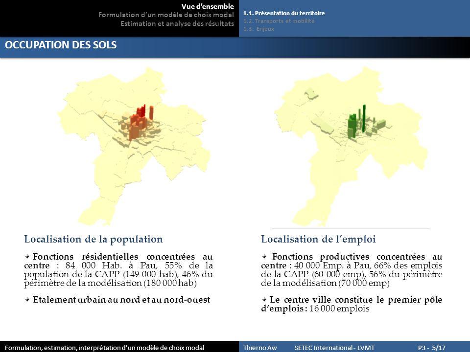 OCCUPATION DES SOLS Localisation de la population