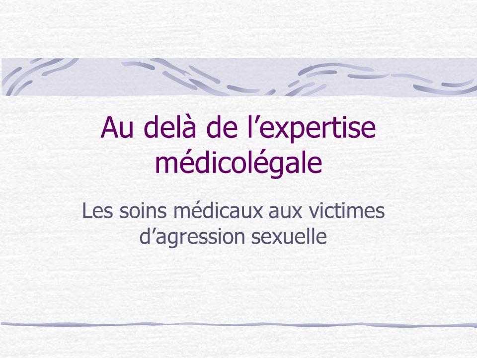 Au delà de l'expertise médicolégale