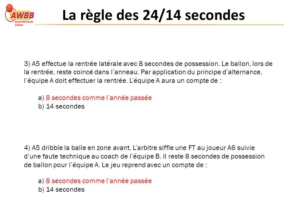 La règle des 24/14 secondes