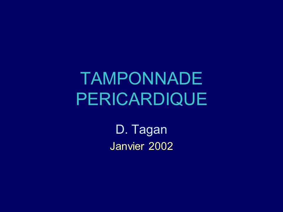 TAMPONNADE PERICARDIQUE