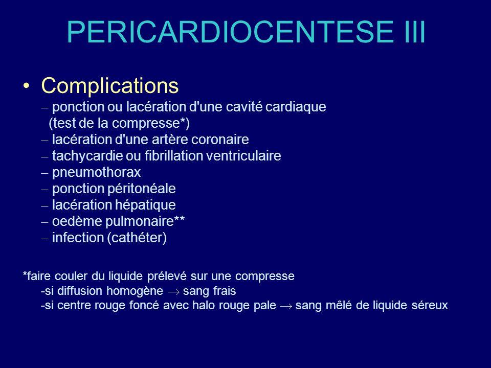 PERICARDIOCENTESE III