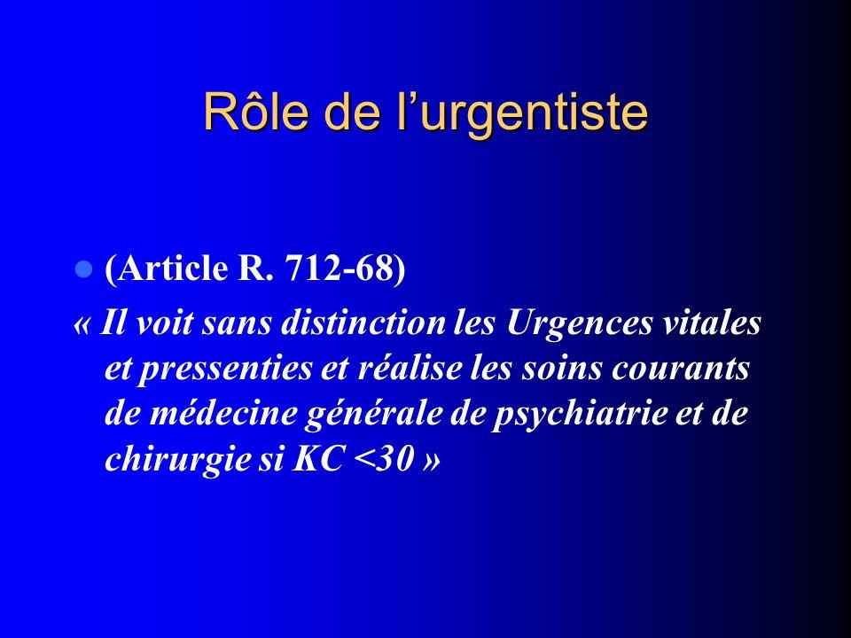 Rôle de l'urgentiste (Article R. 712-68)